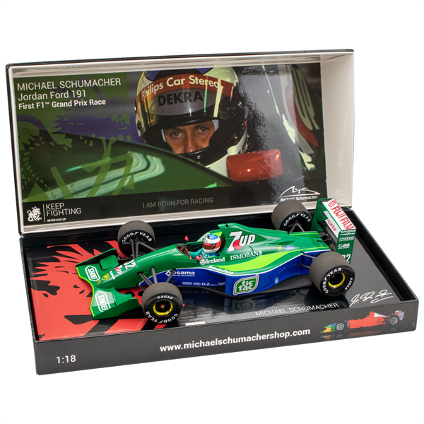 MINICHAMPS MODEL Michael Schumacher Jordan Ford 191 First F1™ Grand Prix Race Spa 1991 1/18