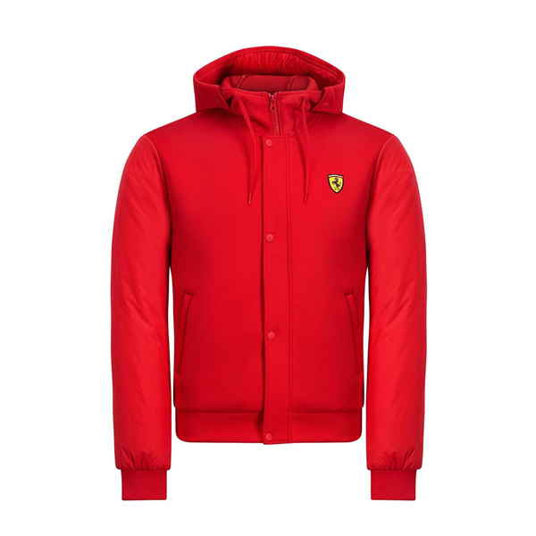 VETROVKA SCUDERIA FERRARI F1 MEN'S HOODED BOMBER JACKET RED