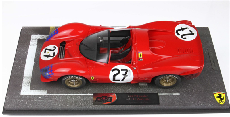 Model Ferrari 330 P3 Spider 24H Le Mans 1966 End Of Race
