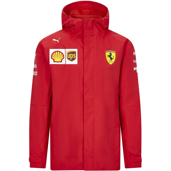 Scuderia Ferrari Team Mens Rain Jacket 2021