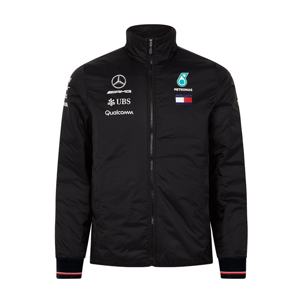 Vetrovka Mercedes AMG F1 Mens Padded Jacket Black